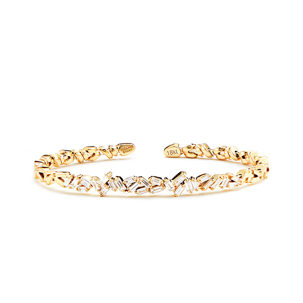 Suzanne Kalan Baguette Diamond Firework Bangle