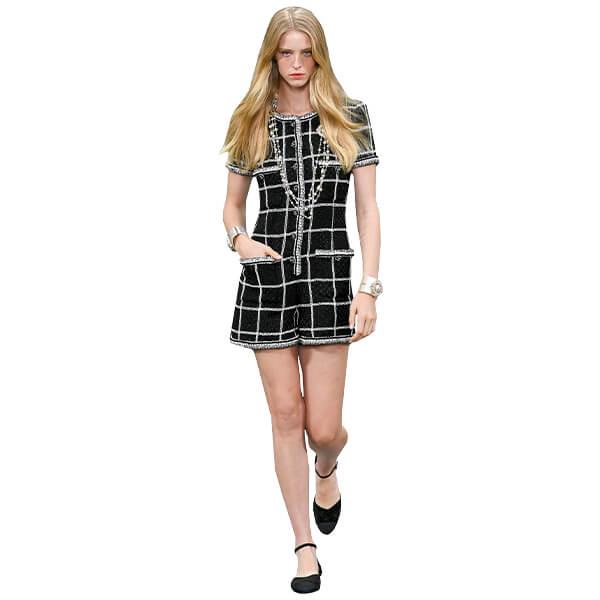model wearing chanel