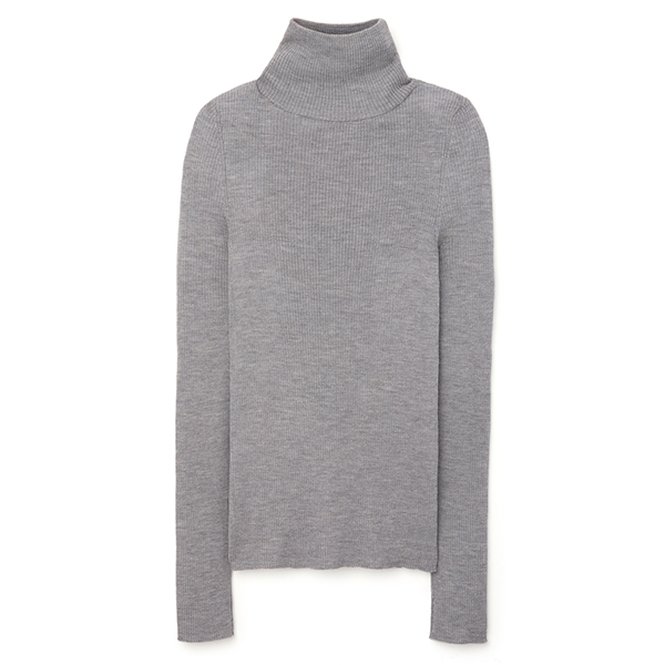 G. Label Kristina Fine-Rib Turtleneck Sweater