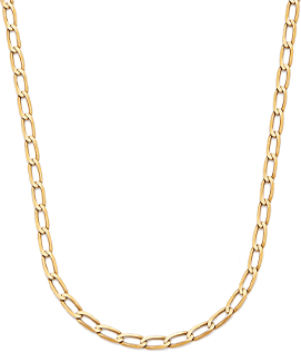 Disco Yellow-Gold Chain Necklace