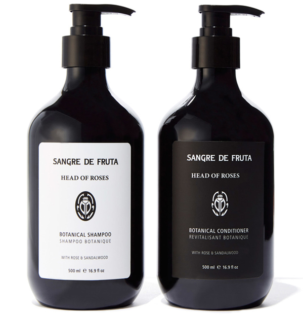 Sangre de Fruta Head of Roses Botanical Shampoo and Conditioner
