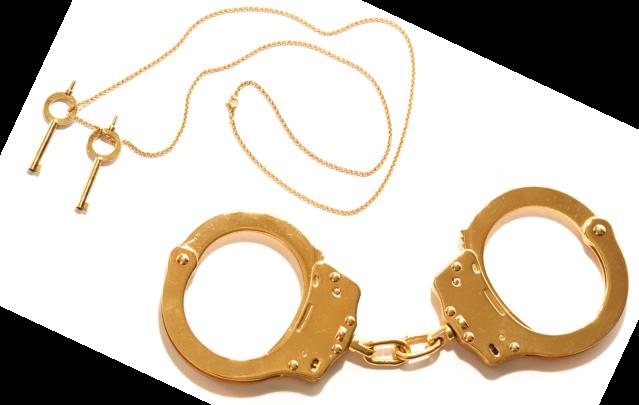 Kiki de Montparnasse Gold Handcuffs