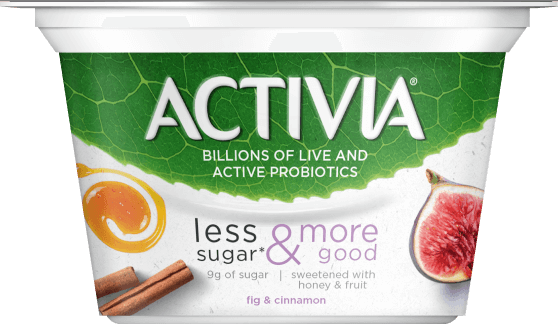 activia LESS SUGAR & MORE GOOD yogurt
