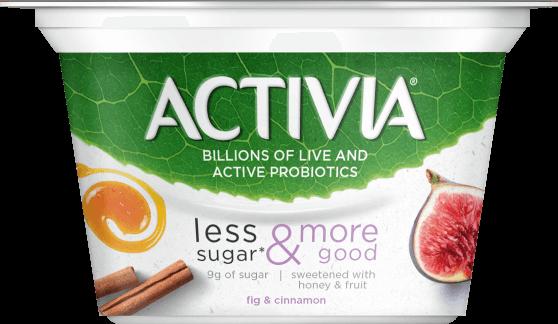 activia LESS SUGAR & MORE GOOD yogurt