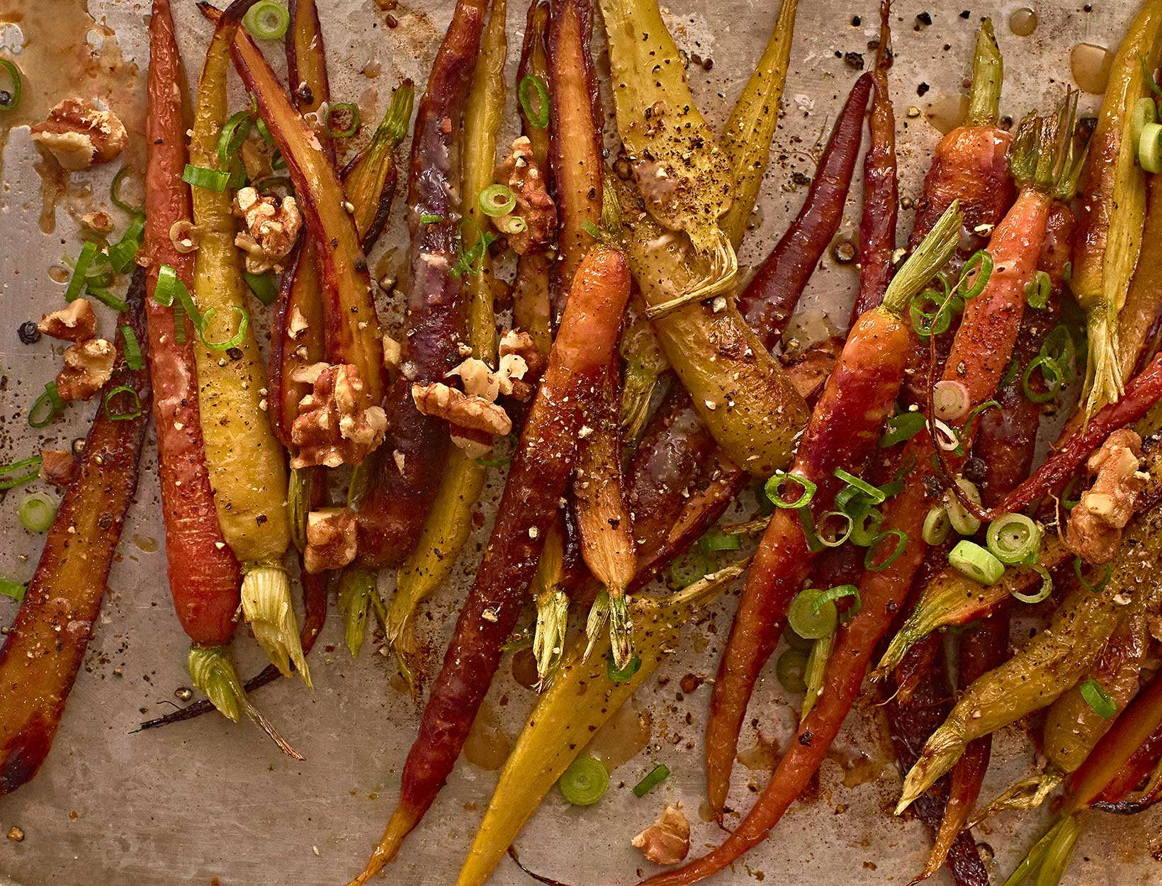 Roasted Carrots with Miso, Honey, and Walnuts