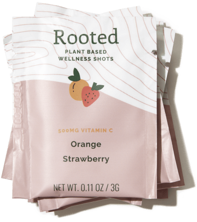 Rooted Wellness Shot Orange Strawberry Wellness Shot