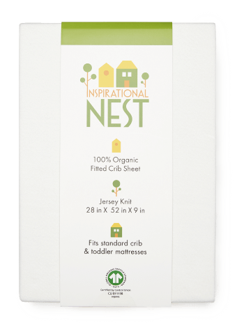 Inspirational Nest Organic Baby Crib Set