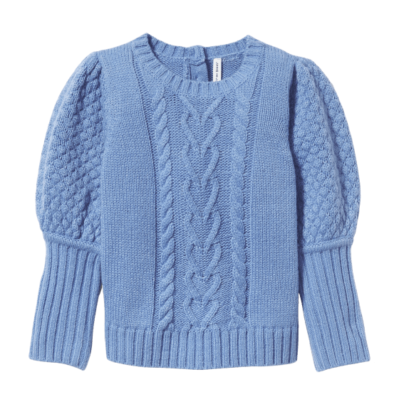 Janie and Jack - BP Puff Sleeve Cable Knit
