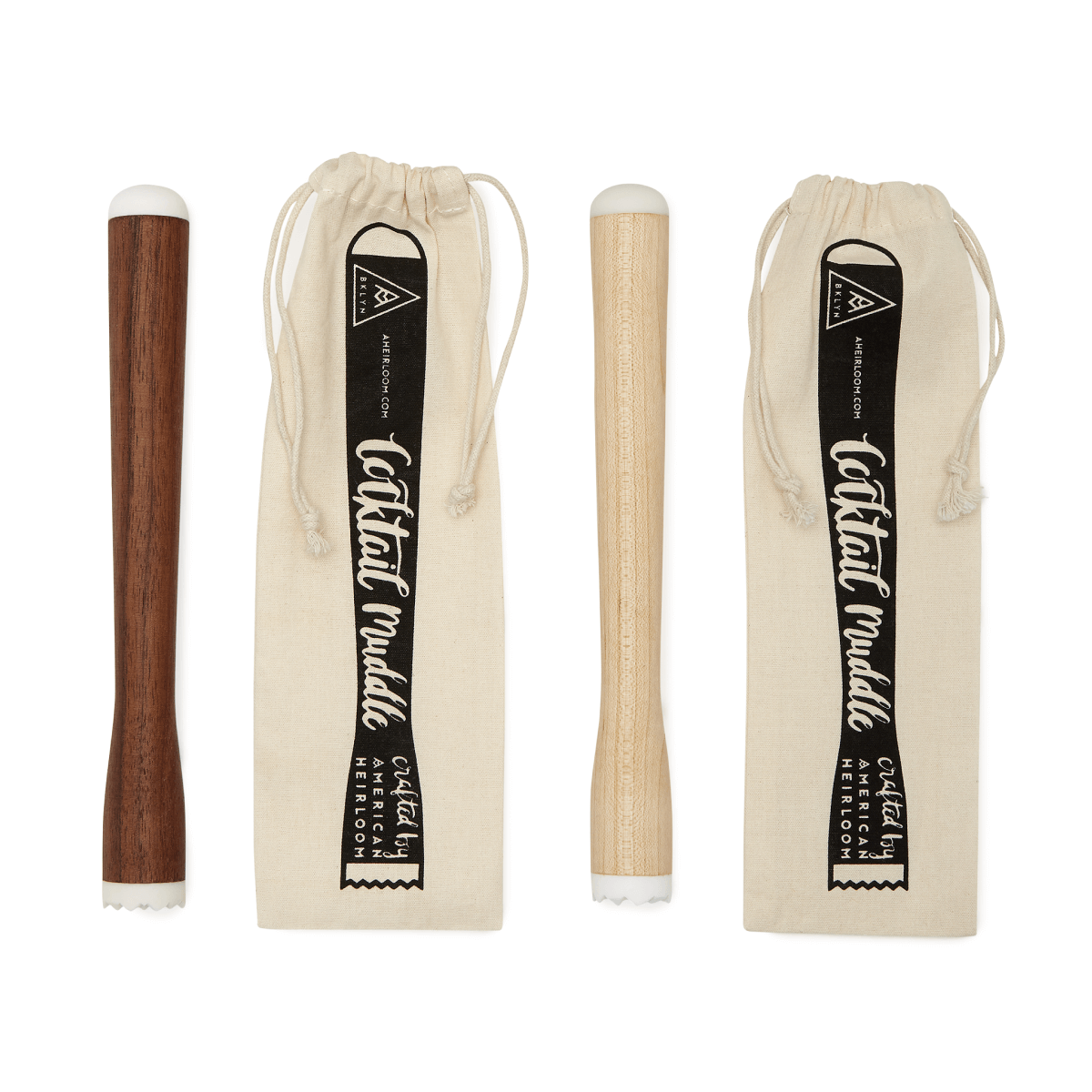 American Heirloom Personalized Maple & Walnut Muddler Set