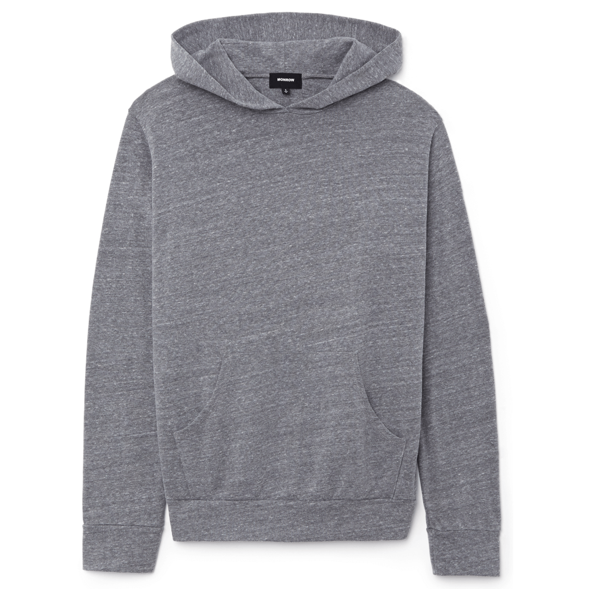 Monrow Heather Fleece Pullover Hoodie