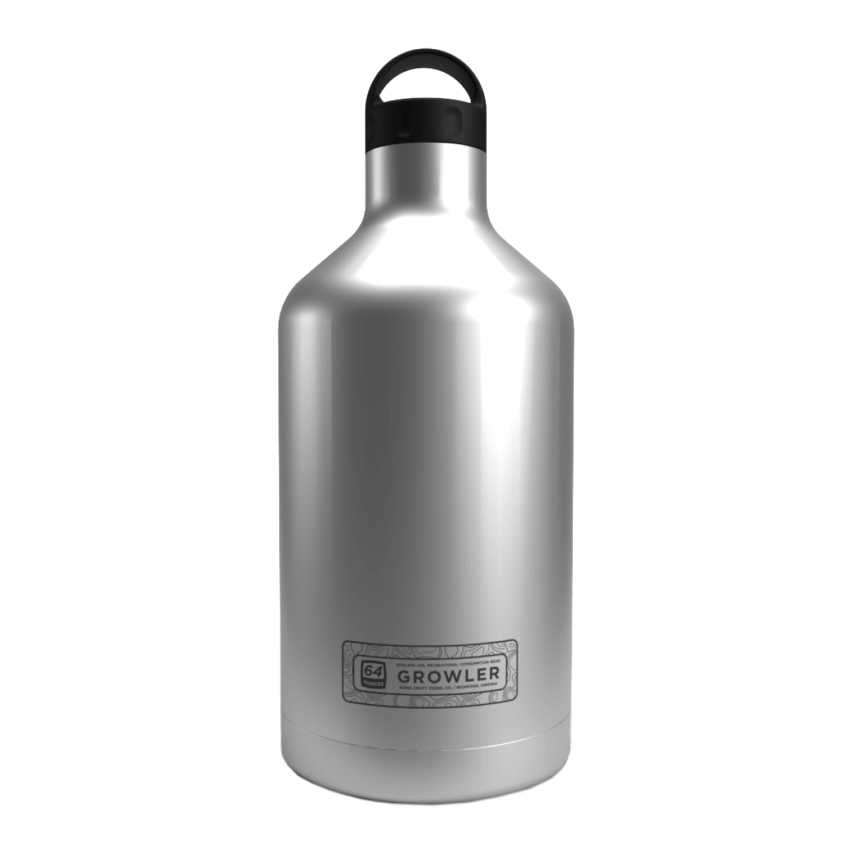 Shine Vessels 64 oz. Brushed Stainless Insulated Growler