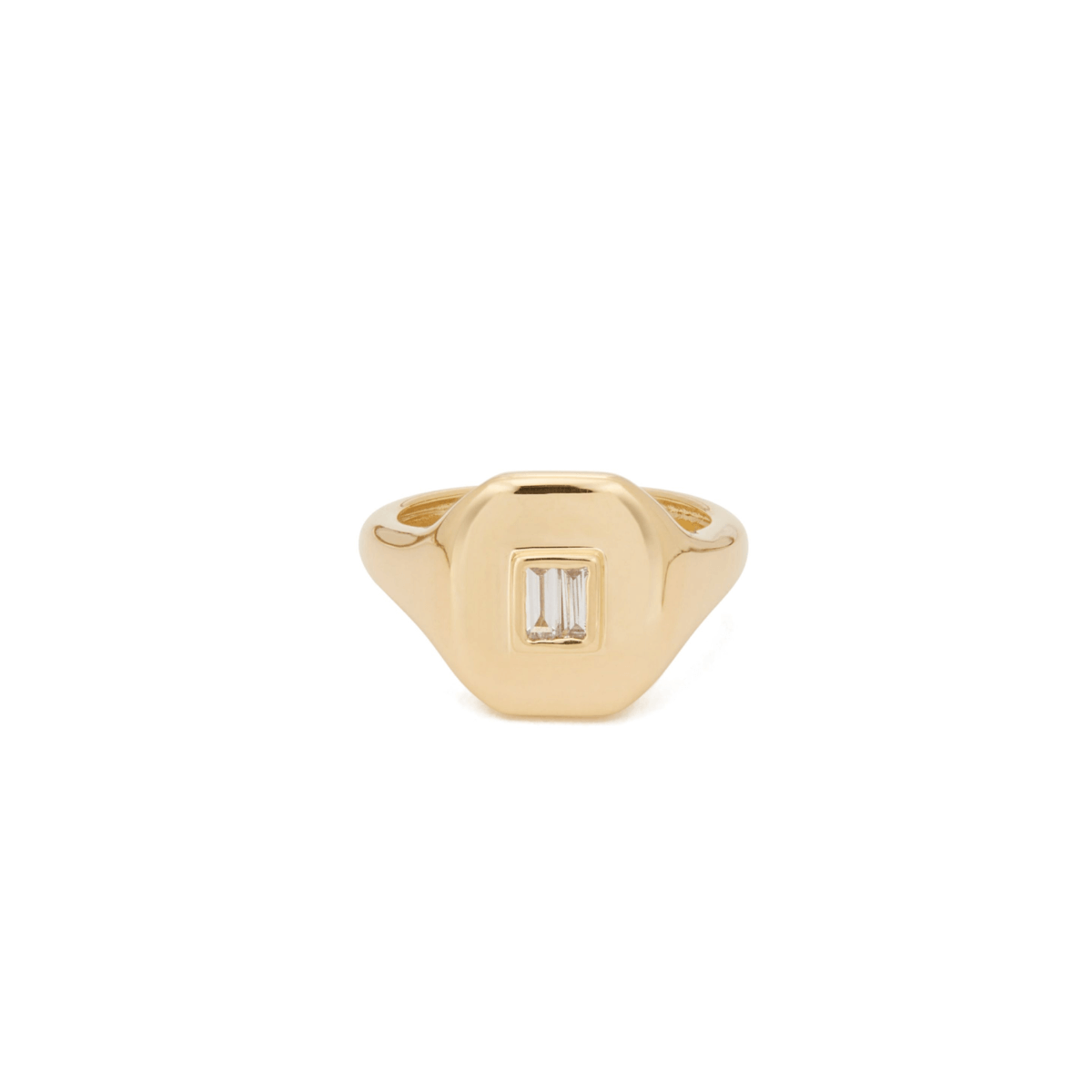 Shay Jewelry Essential Pinky Ring With Baguette Diamond
