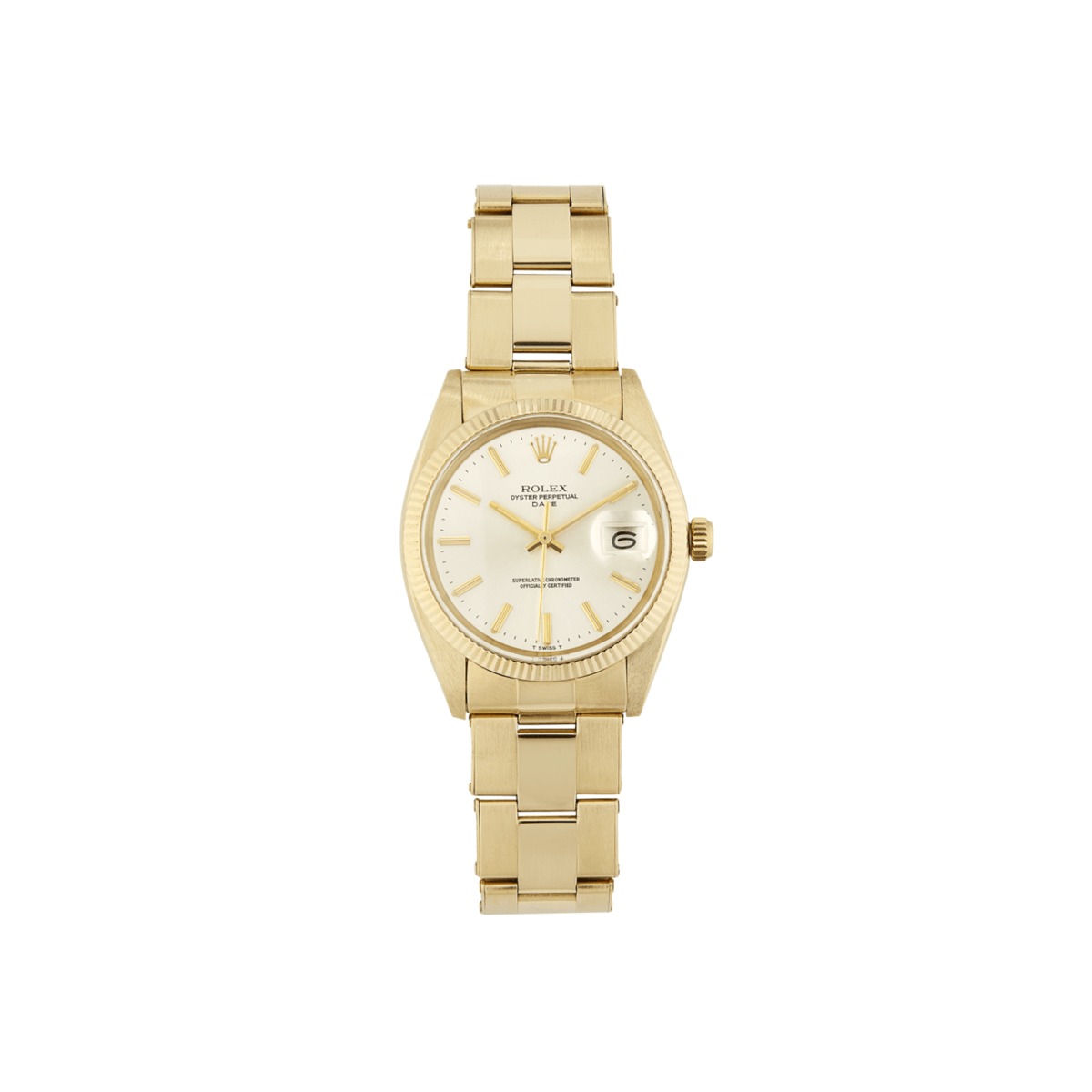 Bob's Watches Rolex Men's Date 14ct Yellow gold 34mm Model 1503