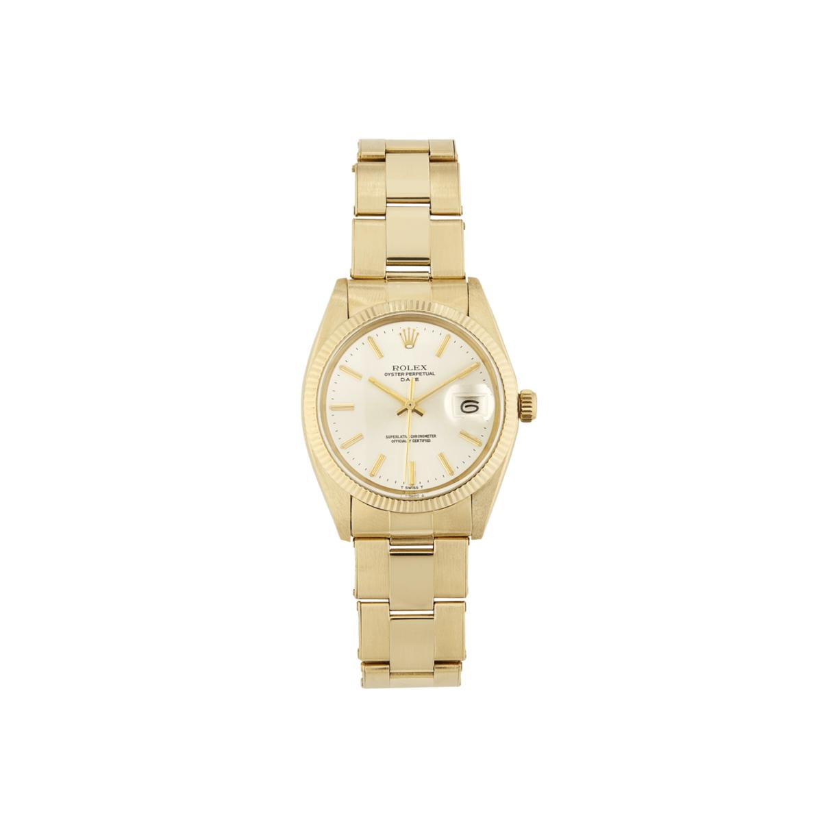 Bob's Watches Rolex Men's Date 14ct Yellow gold 34mm Model 1503