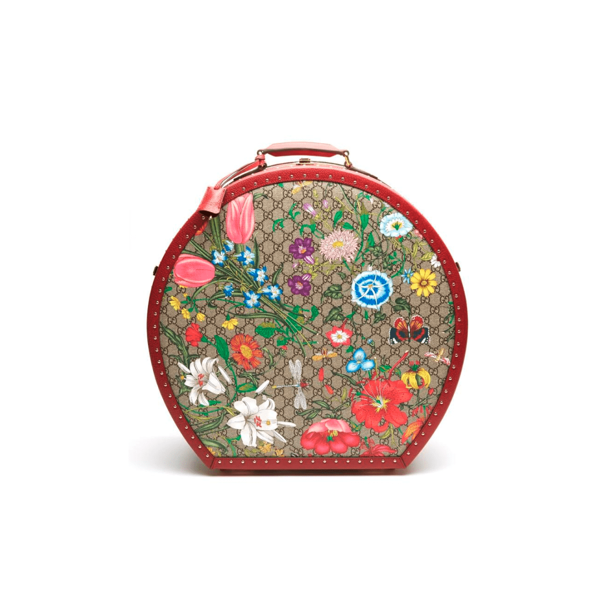 Gucci Small Hat Case in Gucci-Flora Print