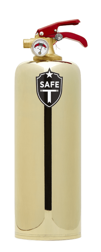 Safe-T Luxe Brass Fire Extinguisher