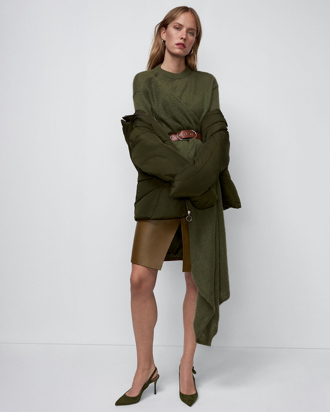 Andrew Marc Jacket and Officine Generale Skirt