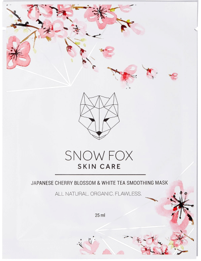 Snow Fox Japanese Cherry Blossom & White Tea Soothing Mask