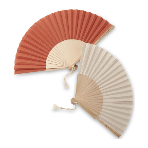 The Beach People Linen Hand Fan
