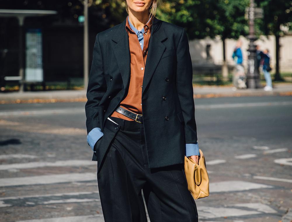 woman walking in public