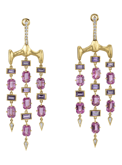 Vram Gold Chrona Chandelier Earrings