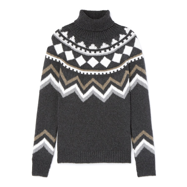 pattern gray sweater