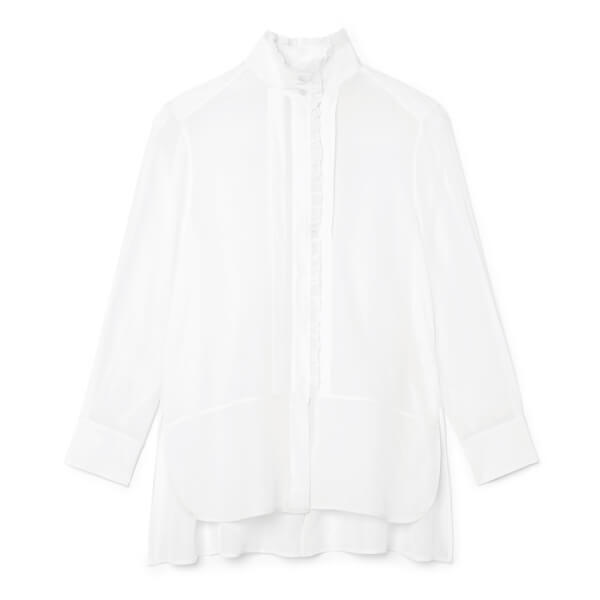 g label LITVACK PLEATED COLLAR button down