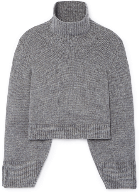 gray turtleneck
