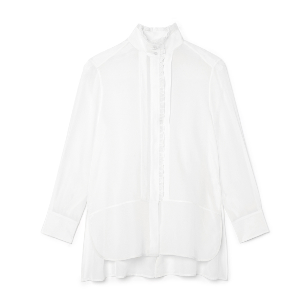 G. Label Litvack Pleated-Collar Button Down