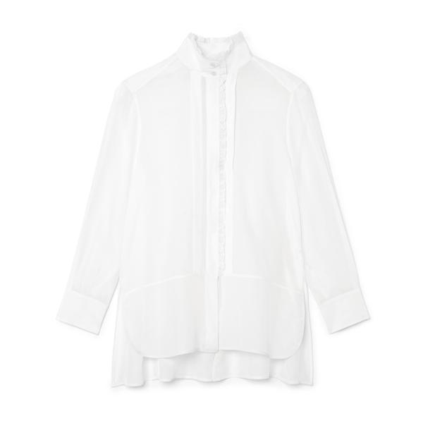 G. Label Litvack Pleated-Collar Button Down