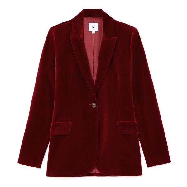 G. Label Starr Velvet Tuxedo Jacket