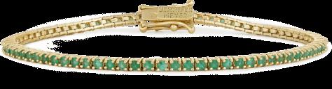 Jennifer Meyer Emerald 4-Prong Tennis Bracelet