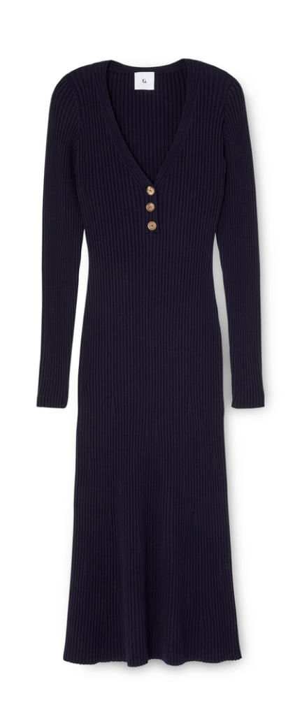 g label LARKIN HENLEY SWEATERDRESS