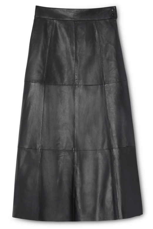 G. Label Marilyn Midlength Leather Skirt