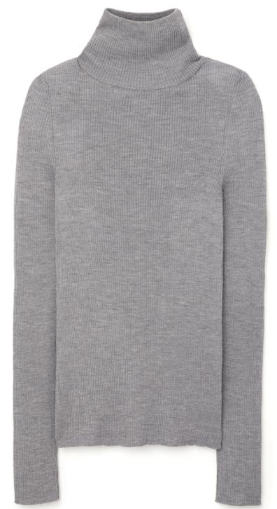 G. Label Krsitina Fine Rib Turtlneck Sweater