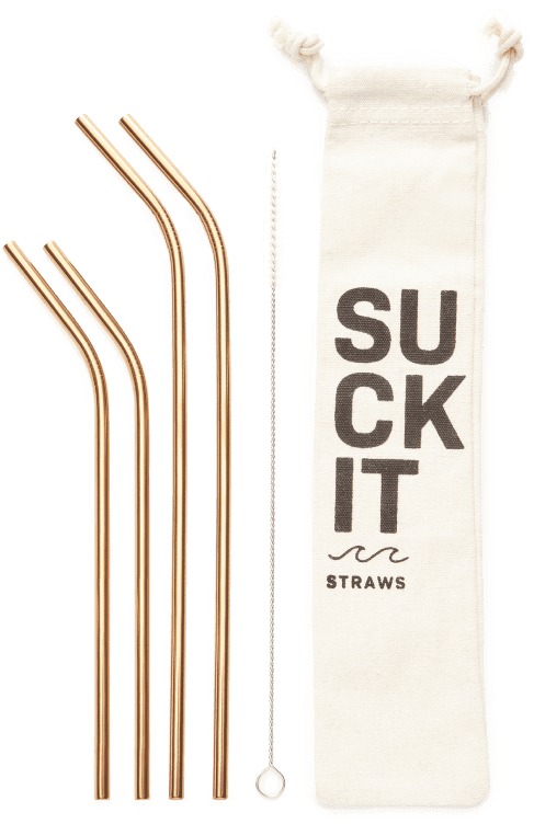 Suckit Straws Reusable Straws, Set of 4