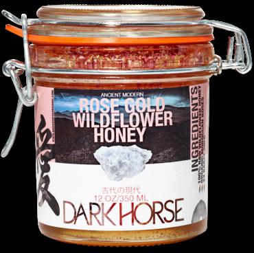 Dark Horse Organic Rose Gold Wildflower Honey