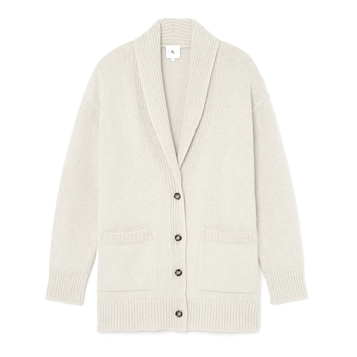 G. Label LANA SHAWL-COLLAR CARDIGAN