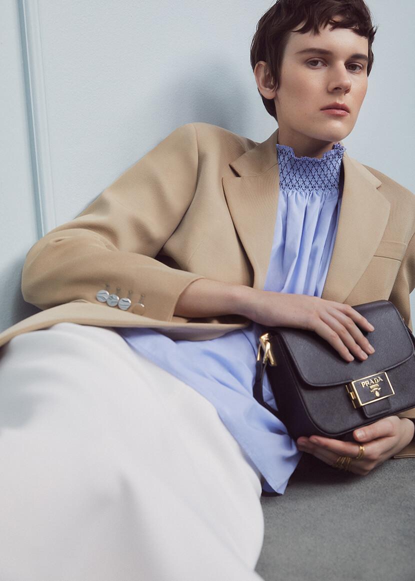 Woman in Prada Jacket