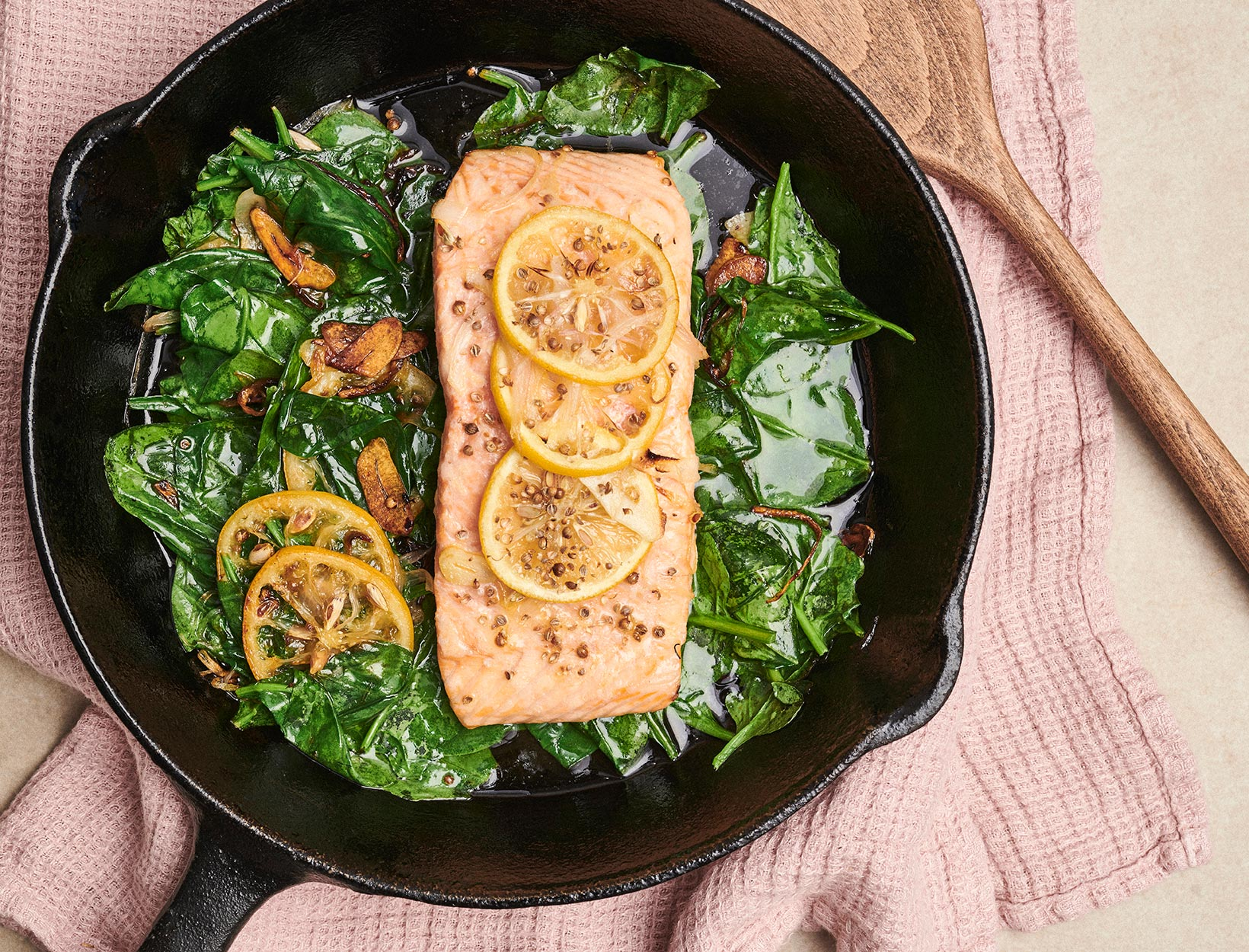 Slow-Roasted Salmon with Shallots, Garlic, Coriander, and Lemon