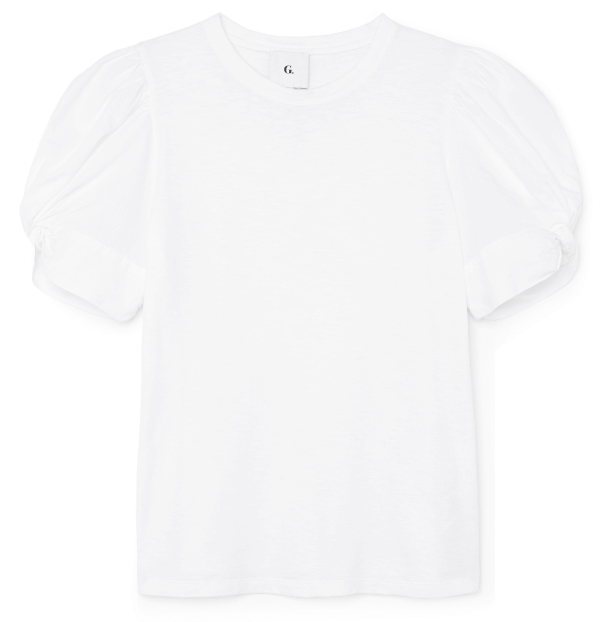 G. Label Christopher puff sleeve poplin t-shirt