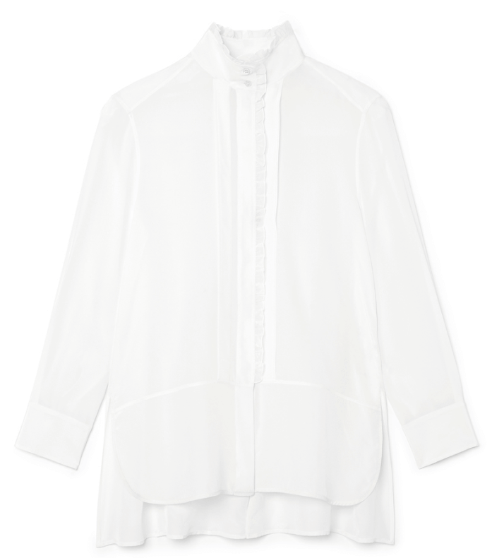 G. Label Litvack Pleated-collar Button-down