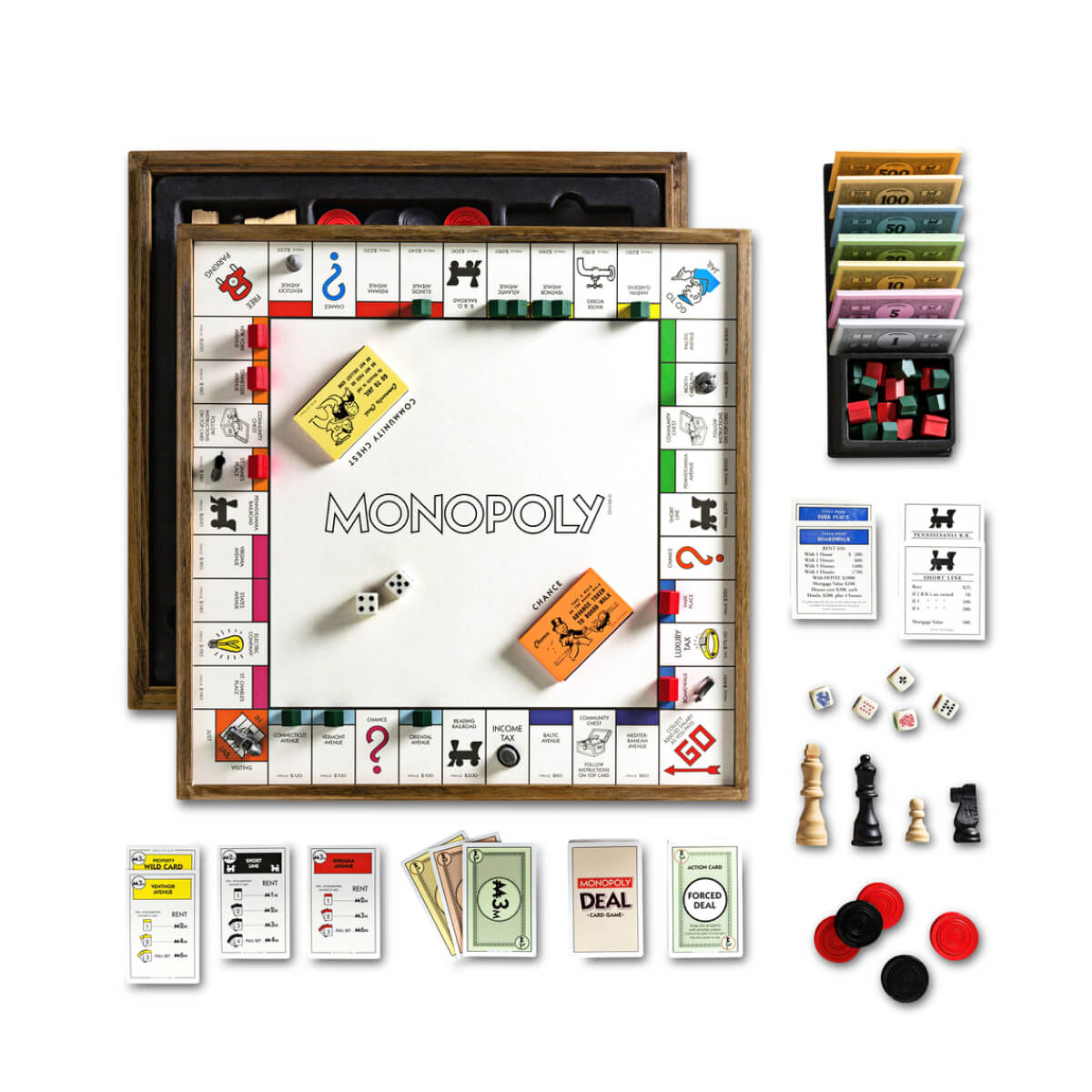 WS Game Company MONOPOLY DELUXE VINTAGE 5-IN-1 EDITION