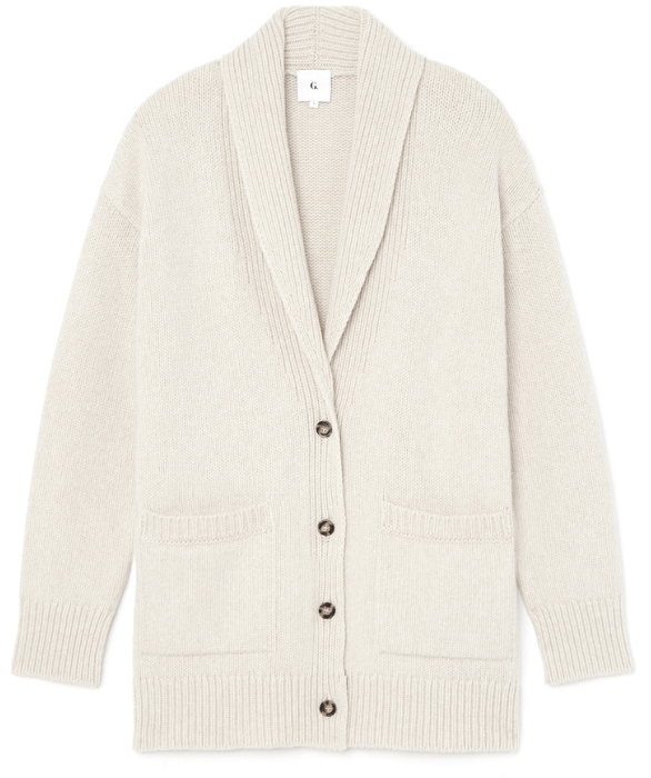 G. Label lana shawl collar cardigan