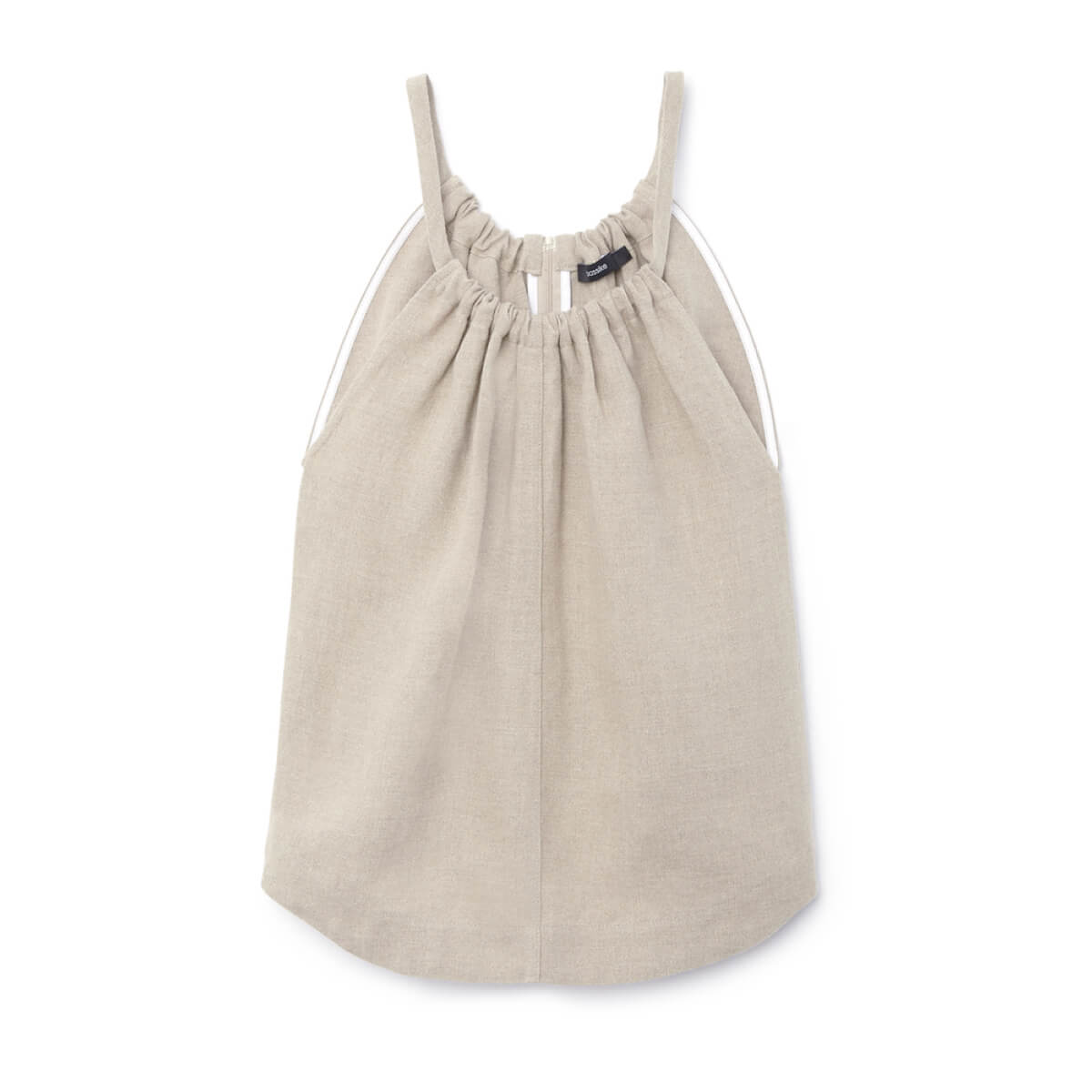 bassike LINEN GATHERED-NECK TANK