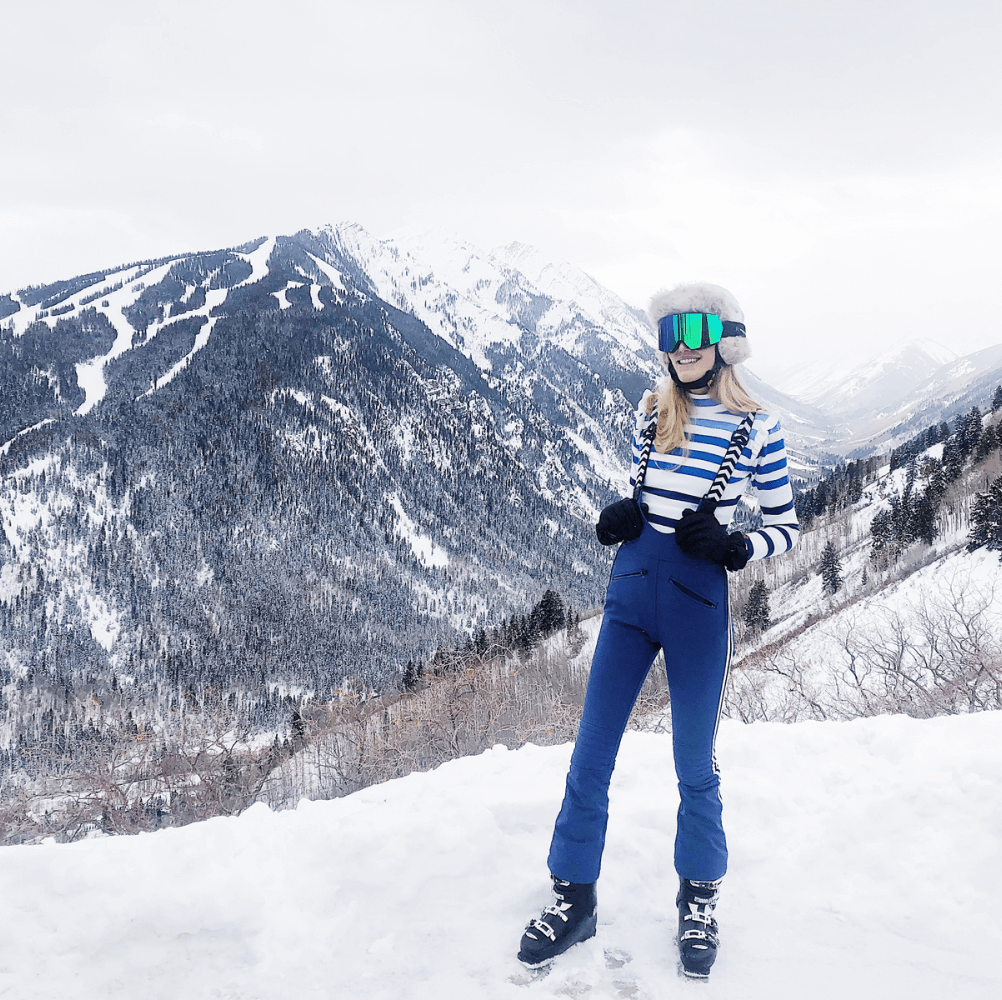 goop x perfect moment sweater and ski pants