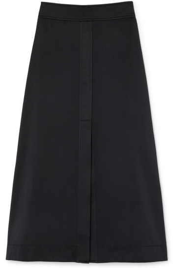 STEWART A-LINE DOUBLE-SATIN SKIRT