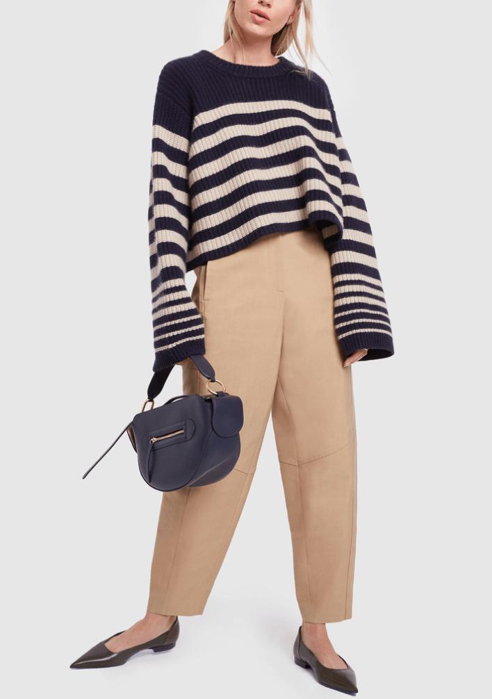 woman holding purse