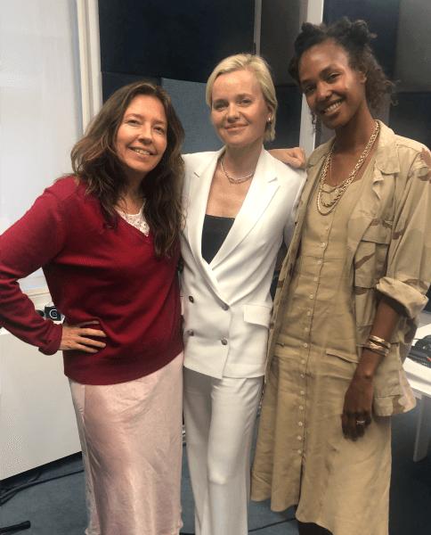 Dr. Barbara Sturm, Jean Godfrey-June and Megan O'Neill