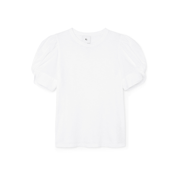 G. Label Christopher puff sleeve poplin t-shirt